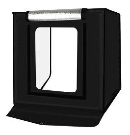 折畳式 LED撮影ボックス 60cm ポータブル コンパクト 背景 スクリーン 調光ライト 多角度撮影 SBXLED60C