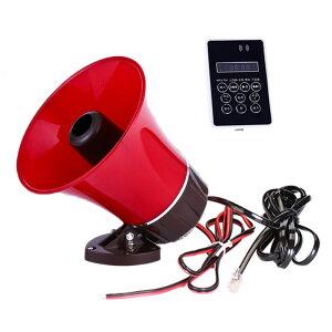 車載拡声器 防水 スピーカー&アンプセット 12-60V汎用 マイク内蔵 録音/再生 MicroSD/USBメモリー対応 120秒録音機能付 MP3 CA165AM