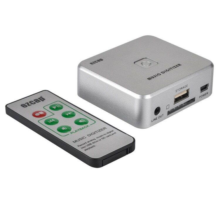 オーディオキャプチャー 音声コンバーター プレーヤー中のテープやMD音源をデジタル化保存 自動曲分割対応 USBメモリー SDカード直接保存 PC不要 Easyキャプ EZCAP241