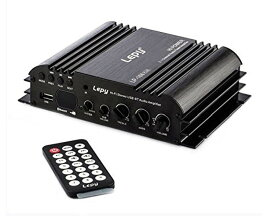 【Lepy】HIFIデジタルステレオアンプ Bluetooth対応 USBメモリ対応 2.1チャンネル ハイパワーアンプ 45W×2+68W出力 リモコン・アダプタ付き LP 68PLUSプラス