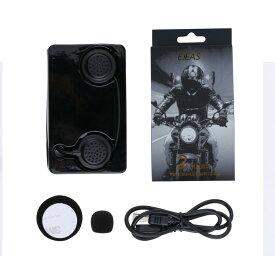 [EJEAS] 軽量バイクインカム 無線インカム Bluetoothインターコム 2機同時通話 高音質 ヘッドセット AUX対応 ツーリング スキー アウトドア 作業用など EJEAS-E200