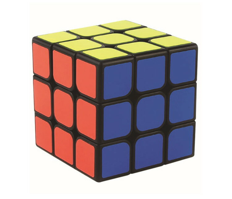 【ポイント5倍 店内全品 4/26 1:59まで】キューブパズル 3×3 6面 コンパクト スピードキューブ 世界基準配色 回転スムーズ 知育おもちゃ 立体パズル 暇つぶし 気分転換 パズルキューブ 魔方MOF30BK