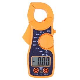 デジタルクランプメーター 電流測定器 AC/DC両用 デジタルマルチメーター 非接触で電流計測 電流計 電圧計 抵抗/導通チェック機能 テストリード付 マルチ計測器 MT8720A