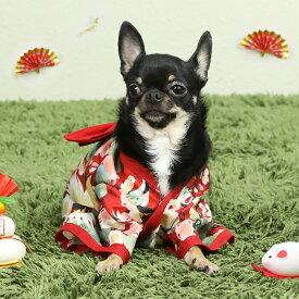 ワンコ ニャンコ 着物 和服 犬服 猫服 晴れ着 お祝い ドッグウェア キャットウェア おうちコーデkrd03