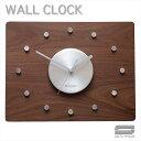 SAITO WOOD サイトーウッド ウォールクロック WALL CLOCK 【 color ウォールナット 】長方形 シンプル・デザイン・掛け時計 。