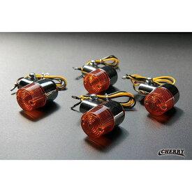 【266】 汎用 STD ヨーロピアン ウインカー メッキ × オレンジ 4個セット アルミ製 ステー付 ヨーロピ ゼファー400χ (CHERRY)