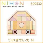 エド・インター積木天然木木製玩具天然素材キッズおもちゃ送料無料【つみきのいえM809532】