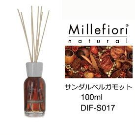 【ミッレフィオーリ】Millefiori サンダルベルガモット フレグランス リード ディフューザー S ナチュラルシリーズ ルームフレグランス Sandalo Bergamotto