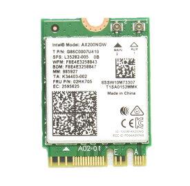 インテル Intel Wi-Fi 6 AX200 AX200NGW Wi-Fi 6 802.11AX + Bluetooth 5.0 M.2/NGFF ワイヤレスカード [ 子機 m2 m.2 note ノート パソコン アップグレード]