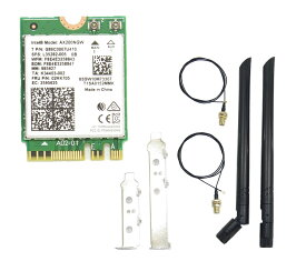 アンテナセット インテル Intel Wi-Fi 6 AX200 AX200NGW Wi-Fi 6 802.11AX + Bluetooth 5.0 M.2/NGFF ワイヤレスカード [ 子機 m2 m.2 note ノート パソコン アップグレード]
