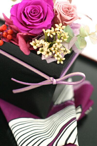 フラデコ 「源氏」クリアケースプレゼント!プリザーブドフラワー 和風 ギフト 誕生日 お祝い