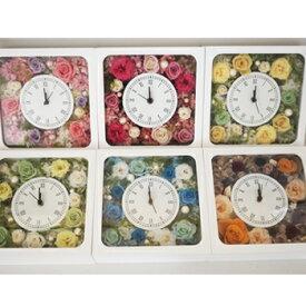 プリザーブドフラワー 壁掛け時計 ルミネ ブリザードフラワー ブリザードフラワ- ブリザ-ブドフラワー