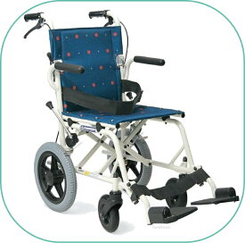 車椅子/簡易車いす/旅行用旅ぐるまシリーズKA6 ドットブルー【カワムラサイクル】コンパクトに折りたたみ旅行や移動が楽々コンパクト車いす【送料無料】【非課税】※メーカー欠品※お届けにお時間が掛かる場合があります。 敬老の日