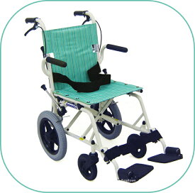 車椅子/簡易車いす/旅行用旅ぐるまシリーズKA6 グリーンストライプコンパクトに折りたたみ旅行や移動が楽々コンパクト車いす カワムラサイクル【送料無料】【非課税】※メーカー欠品※お届けにお時間が掛かる場合があります。 敬老の日