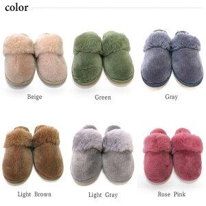 洗える ムートンスリッパ 【色とサイズが選べる】 DELUXE/デラックスタイプ あったかルームシューズ レディース メンズ 室内履き ウール 天然羊毛 スリッパ オーストラリア産天然羊毛100%を使