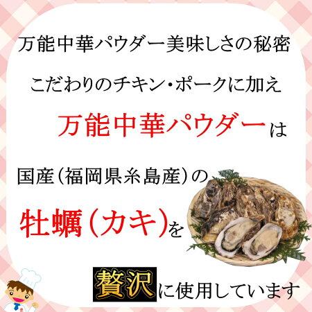 中華調味料まるさん万能中華パウダー国産牡蠣(オイスター)粉末入り【メール便送料無料】02P26Mar16