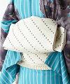 ふりふオリジナル京袋帯・「ぶどうっと。」【結婚式/2次会/入学式/卒業式/パーティー/普段着にも】京袋帯おび仕立て上がりフリーサイズ刺繍ポップ普段着着物葡萄グリーン黒白