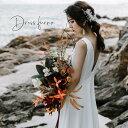【楽天ランキング1位受賞】フォトウエディング ウェディングドレス ノースリープ 二次会 花嫁 エンパイア カジュアル …