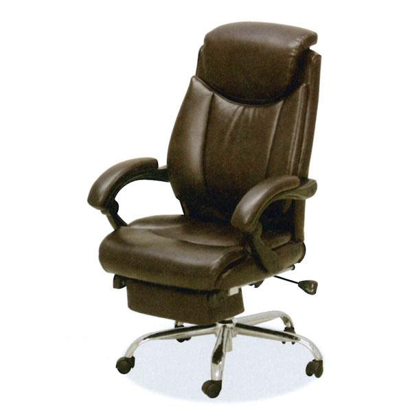 【ポイント大増量&お得クーポン】 オフィスチェア リクライニング 事務椅子ワークチェア ダークブラウン C-301 送料無料