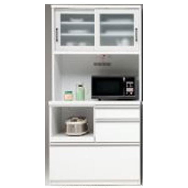食器棚 完成品 レンジ台レンジ収納 90cm幅「バーキン」 開梱設置 送料無料