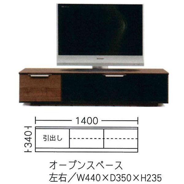 【今だけ3%OFF中&ポイント増量&お得クーポン】 日本製 国産 テレビボード TVボード テレビ台ローボード 2色対応 140cm幅「ボビー」 開梱設置 送料無料