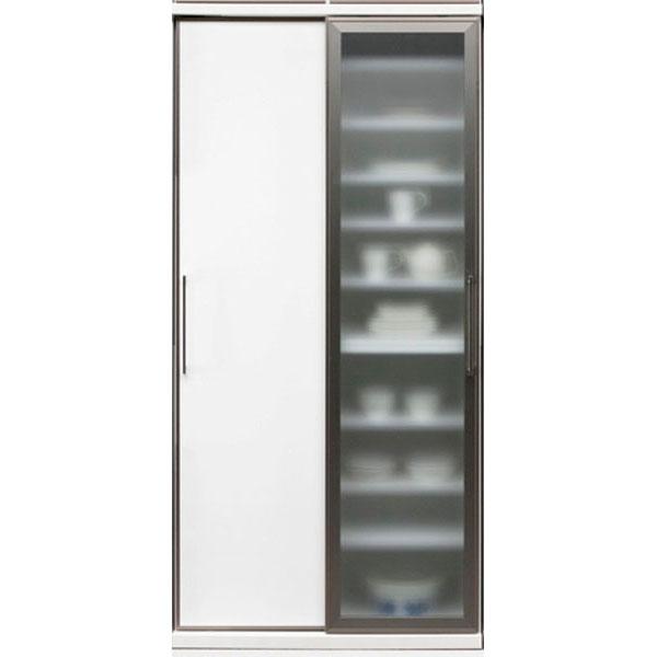 【エントリーでポイント10倍以上!】 食器棚 引き戸 完成品ダイニングボード 90cm幅国産 「サマンサ」 開梱設置 送料無料