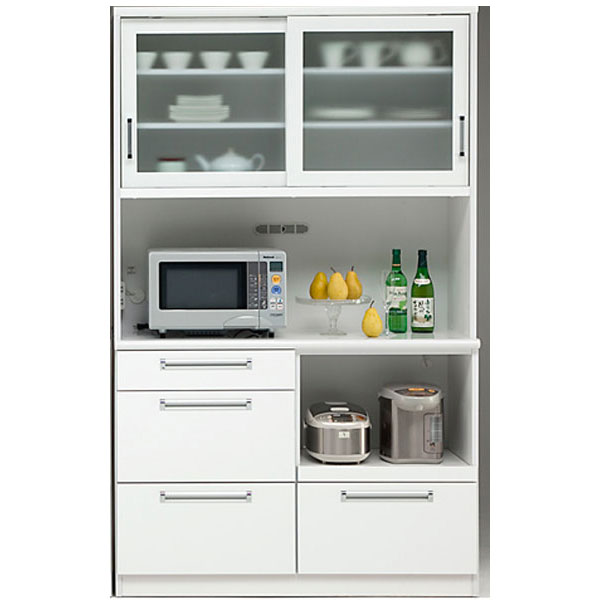 食器棚 完成品 引き戸オープン食器棚 モイス 国産120cm幅 「タック」 開梱設置 送料無料