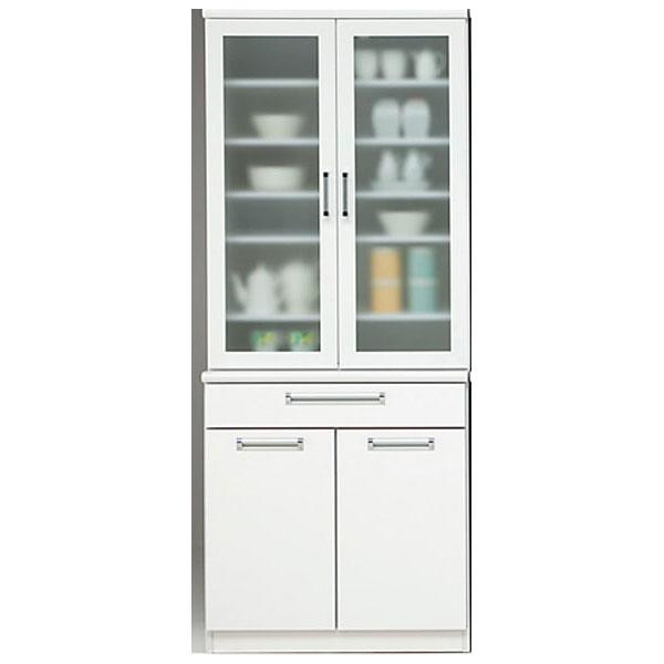 【ポイント超増量&クーポン】 食器棚 開き戸 完成品80cm幅 国産「タック」 開梱設置 送料無料