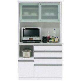 キッチンボード レンジボード 食器棚「フェイス」 110cm幅 2色対応 開梱設置送料無料※8月下旬以降入荷予定※