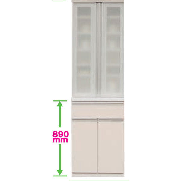 食器棚 ダイニングボード ダイニング収納 キッチンボード キッチン収納60cm幅 高さ2タイプ(199cm・179cm) カラー50色対応国産 開梱設置・送料無料