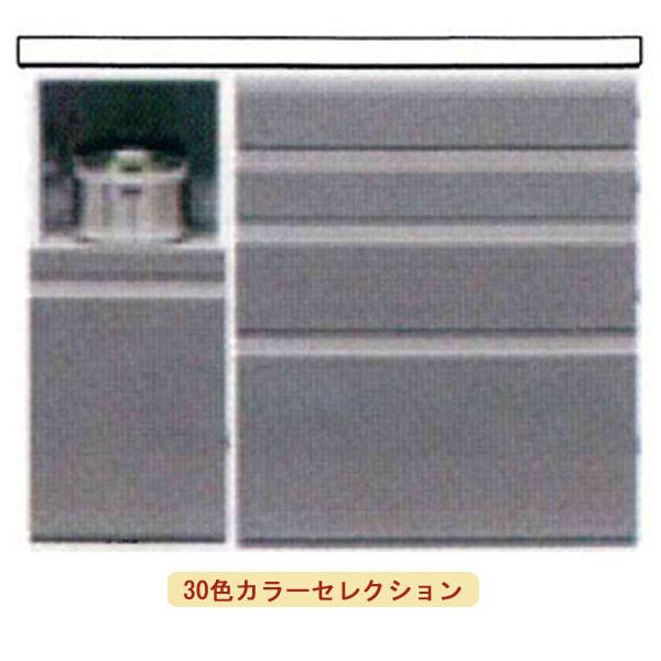 【ポイント超増量&クーポン】 pawell パウエル 30色対応 食器棚 カウンター幅120cm 奥行49cm 高さ95cm国産 日本製 セミオーダー裏側塗装 裏面化粧可能400A 800C レンジボード