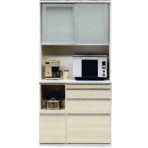 受注生産品 レンジボード 完成品国産 引き戸 キッチン収納 100cm幅50色対応 開梱設置 送料無料