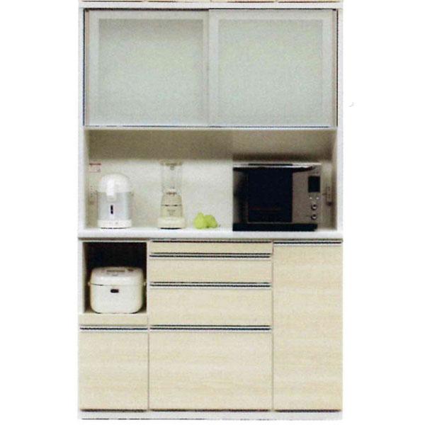 受注生産品 レンジボード 完成品国産 引き戸 キッチン収納 130cm幅50色対応 開梱設置 送料無料