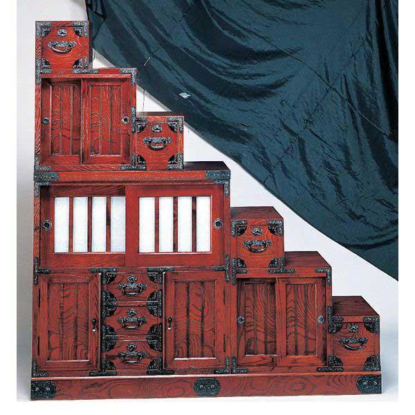 受注生産 民芸家具 和 民芸箪笥 階段チェスト150cm幅 「筑後民芸 やわらぎ組み合わせB」国産 開梱設置 送料無料