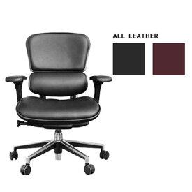 \ポイント最大34倍&お得クーポン/ オフィスチェアー エルゴヒューマン「Basic」 「EH-LAL」 革張り ロータイプ 2色対応 送料無料