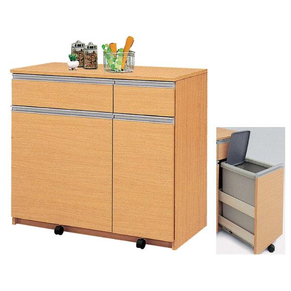 ダストボックス ごみ箱収納 3分別「アルビナ」 キッチン 台所 収納45リットル フタ付 3色対応