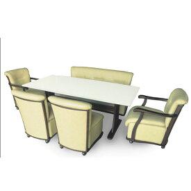 【6/4〜ポイント増量&クーポン】 ダイニングセット 6点セット「シャンテ-U」 椅子キャスター付き 6人掛け 開梱設置 組み立てします 送料無料