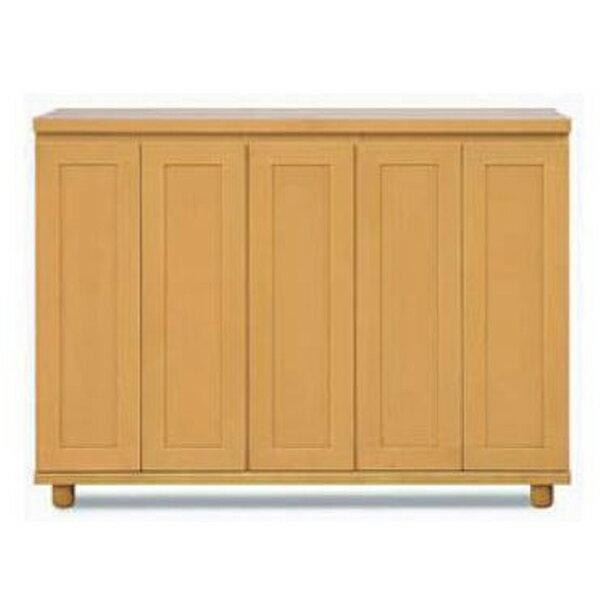 【国産】 下駄箱天然木アルダー材 『カリビアン』140cm幅 開き戸シューズボックス開梱設置・送料無料