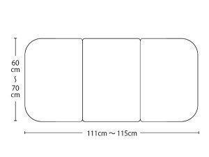 【送料無料】オーダーメイドさめにくい風呂ふたneo 奥行60〜70×間口111〜115cm 3枚割_
