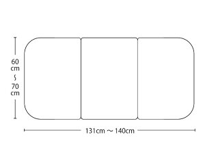 【送料無料】オーダーメイドさめにくい風呂ふたneo 奥行60〜70×間口131〜140cm 3枚割_