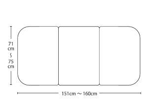 【送料無料】オーダーメイドさめにくい風呂ふたneo 奥行71〜75×間口151〜160cm 3枚割_