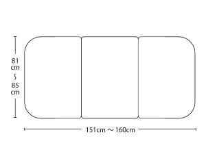 【送料無料】オーダーメイドさめにくい風呂ふたneo 奥行81〜85×間口151〜160cm 3枚割_