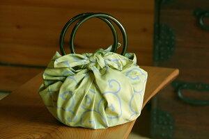いちごバッグ 風呂敷&リングセット「から草・黄」 敬老の日 かわいい おしゃれ