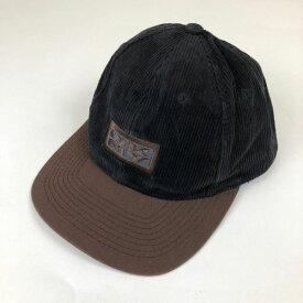 【古着】 DKNY ダナキャランニューヨーク ロゴ刺繍キャップ 切替えデザイン ブラック系 フリーサイズ 【中古】 n001769