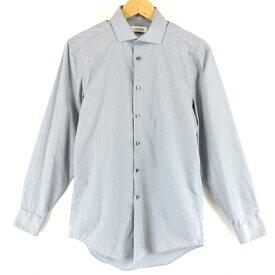 【古着】 Calvin Klein カルバンクライン ストライプシャツ 長袖 グレー系 メンズXS以下 【中古】 n003959