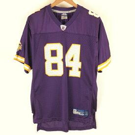 【古着】 リーボック NFL ミネソタキングス フットボールジャージ メッシュ Vネック 切り替え パープル系 メンズXL n004552