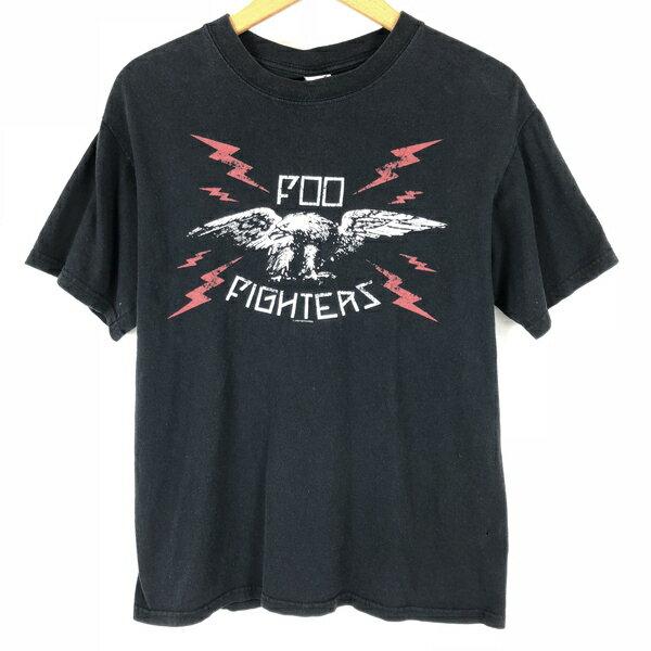 【古着】 FOO FIGHTERS フーファイターズ バンドプリントTシャツ ブラック系 メンズM 【中古】 n005025
