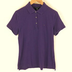 【古着】 TOMMY HILFIGER トミー・ヒルフィガー ブランドポロシャツ 無地 パープル系 レディースL n005232