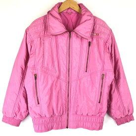ellesse エレッセ スキージャケット made in ITALY 旧タグ ビッグサイズ 無地 ヴィンテージ ピンク系 レディースL n013754