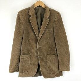 【古着】 テーラードジャケット made in FRANCE コーデュロイ素材 ヴィンテージ ベージュ系 メンズXS 【中古】 n015402